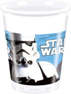 8 stk Star Wars VII Stormtrooper Plastkrus 200 ml - Star Wars