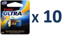 10st batteri 28a 4lr44 kodak ultra, 6v alkaline alkaliskt