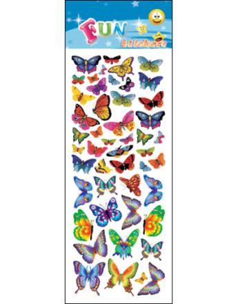 47 stk Klistremerker av Sommerfugler