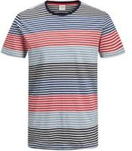 JACK & JONES Randig Rundringad T-shirt Man Blå