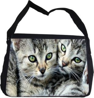 Tabby katter bröder väska med axelrem - messenger bag
