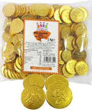 1 kg Sjokolade Piratmynter ca 140 stk