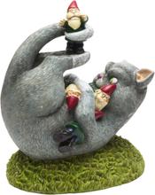 Cat Attack Garden Gnome - Hagefigur 24 cm