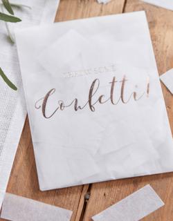 Kuvert med Vit Konfetti 14 gram - Botaniskt Bröllop