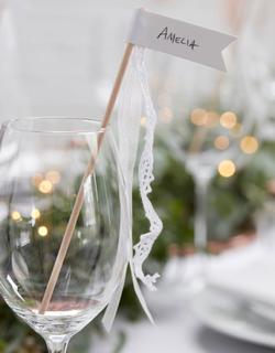 10 stk Romantiske Pynteflagg 18 cm - Botanisk Bryllup