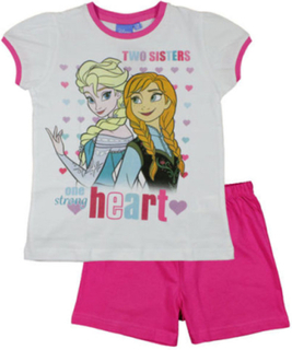 Hvit og Rosa Frozen Pyjamas til Jente