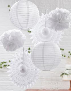 Dekorasjonssett i Hvitt 6 Deler - Botanisk Bryllup