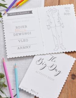 5 stk Aktivitetsbøker for Barn - Botanisk Bryllup