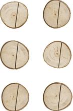 6 stk Bordkortholdere i Treverk