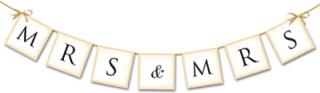 Bryllup Mrs & Mrs Banner 77 cm