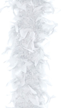 Hvit Fjærboa 180 cm