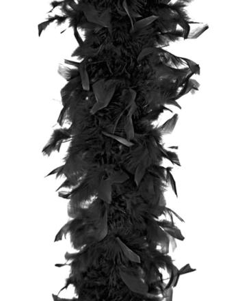 Svart Fjærboa 180 cm