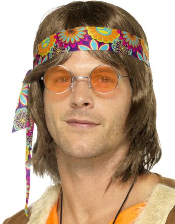 Runde Lennon/Hippiebriller med Orange Glass