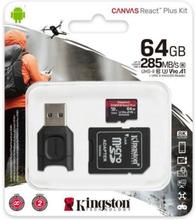 Mikro-SD-hukommelseskort med adapter Kingston MLPMR2/64GB 285 MB/s