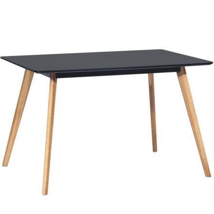 Esstisch Eiche / Schwarz 120 cm - Nordic