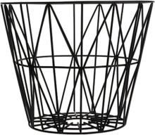ferm LIVING Wire Basket - svart - Small