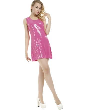 Rosa Partyklänning med Paljetter