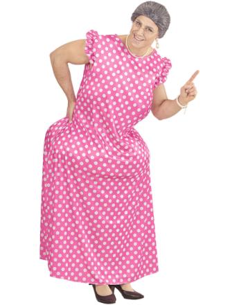 Rosa Bestemorkostyme med Former Unisex
