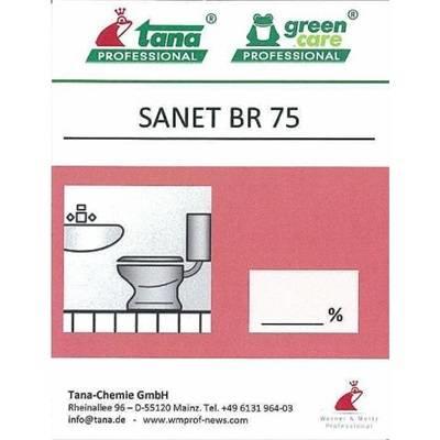 Etiket, Tana Professional Sanet BR 75, til kalkfjerner