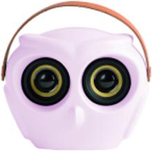 Kreafunk aOwl højtaler i støvet rosa