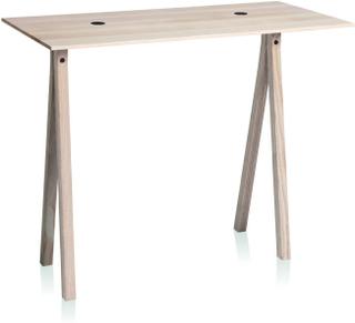 2-DOTS bord med natur ben fra Nomess - Sort