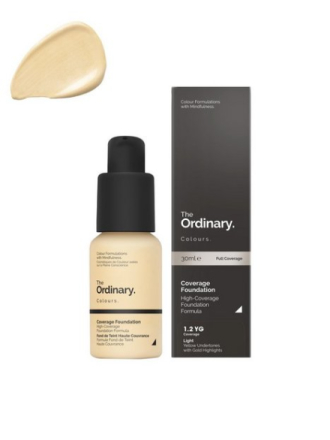 The Ordinary Coverage Foundation 30ml 1.2 YG light Yellow Gold