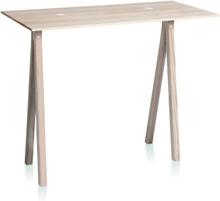 2-DOTS bord med natur ben fra Nomess - Hvid