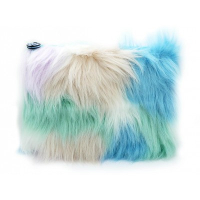 W7 Large Furry Cosmetic Bag Pastel 1 stk