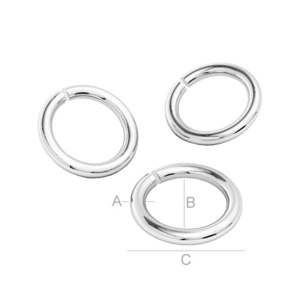 Bindringar 925 Silver - 4.0x0.5mm, 10-pack