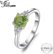 JewelryPalace Genuine Peridot Ring 925 Sterling Silver Rings for Women Engagement Ring Silver 925 Gemstones Jewelry Fine Jewelry