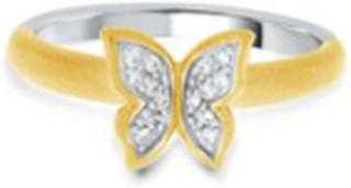 GD GULLDIA SIGNATUR MONA sølv ring forgylt med zirkonia