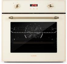 Elizabeth inbyggnadsugn retro-design 6 funktionen 50-250°C creme
