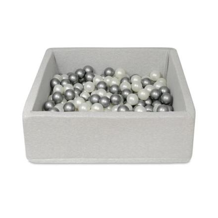PQP- Bollhav - Ljusgrått - 150 Bollar - 90x90 Cm - Höjd 30 Cm