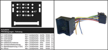 AIV 41C633 ISO Radioadapterkabel Aktiv Passar till: Audi, Opel, Seat, Skoda, Volkswagen