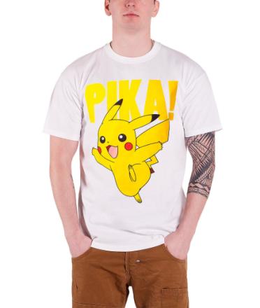 Pokemon T Shirt Nintendo Pikachu Pika! Pokemon Go officielle Herre ... - Fruugo