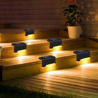 Solar Led Deck Lights Outdoor Path Garden Pathway Trappor Steg F