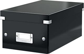 LEITZ DVD-boks Click & Store/6042-00-95, sort, 190x135x320mm, 1400g/qm