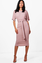 Roisin Tie Waist Formal Wiggle Midi Dress