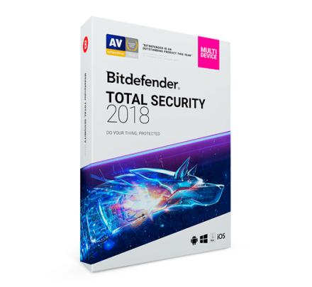 Bitdefender Total Security Multi-Device 2019 - 1 enhed / 1 år