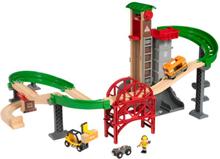 BRIO Lift & Load 33887 Set med hisschakt och broar