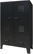 vidaXL Garderob industriell stil metall 67x35x107 cm svart