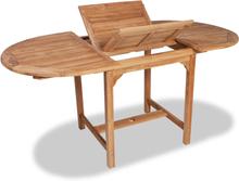 vidaXL forlængeligt havebord (110-160) x 80 x 75 cm massivt teaktræ