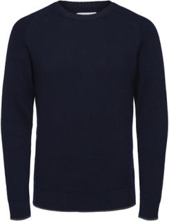SELECTED Selected People Merino Wool Pullover Man Blå