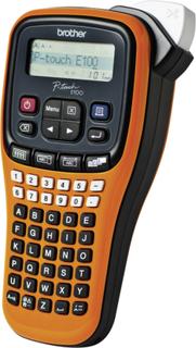 Brother P-touch E100 Labelprinter Velegnet til skriftbånd: TZ 3.5 mm, 6 mm, 9 mm, 12 mm