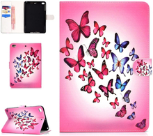 iPad Mini Læder Cover m. Kortholder og Standerfunktion - Sommerfugle