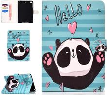 iPad Mini Læder Cover m. Kortholder og Standerfunktion - Cute Panda