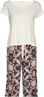 Sleepy Molly Pyjamas Set Pyjamas Nattøj Creme ODD MOLLY