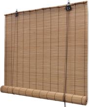 vidaXL Rullgardin i bambu 120 x 220 cm brun
