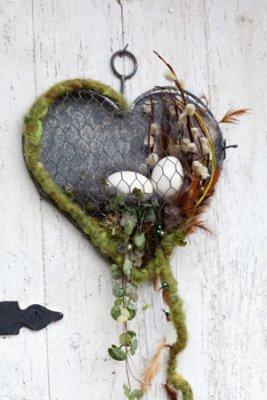Eldgarden Hjärta i hönsnät