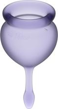 Satisfyer: Feel Good, Menstrual Cups, 2-pack, lila